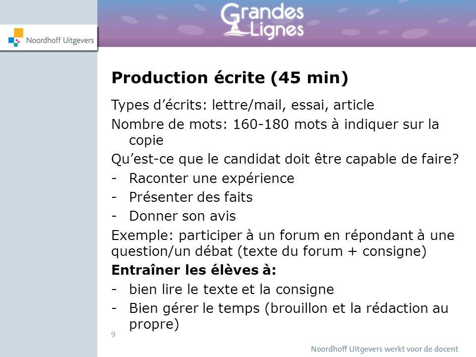 Télécharger les types de production écrite PDF | delf b2,grille