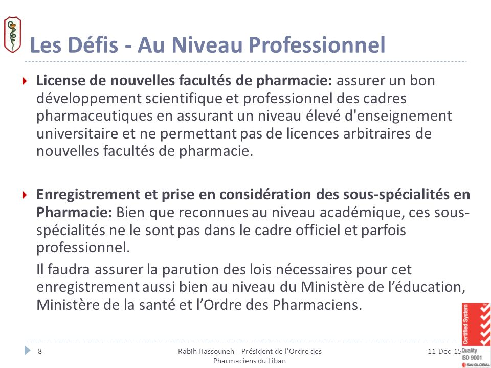 Rabih Hassouneh President De L Ordre Des Pharmaciens Du Liban Ppt