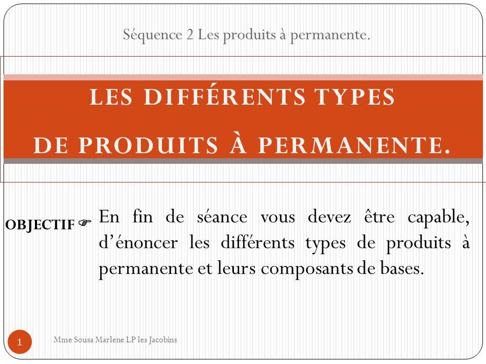 les diff rents types de produits permanente ppt. Black Bedroom Furniture Sets. Home Design Ideas