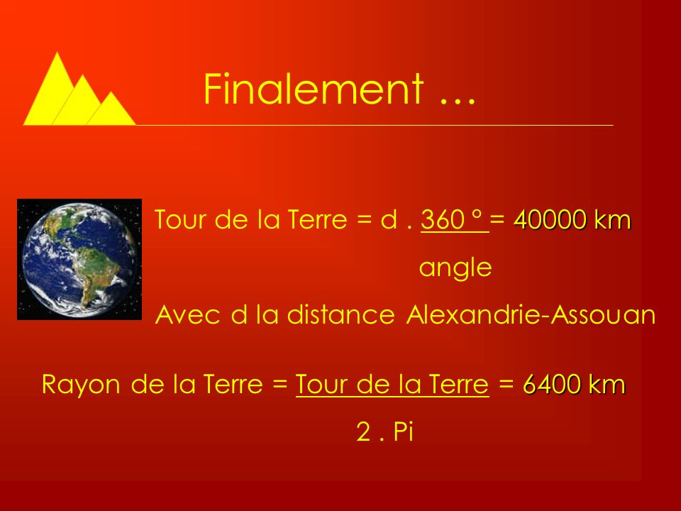 distance tour de la terre