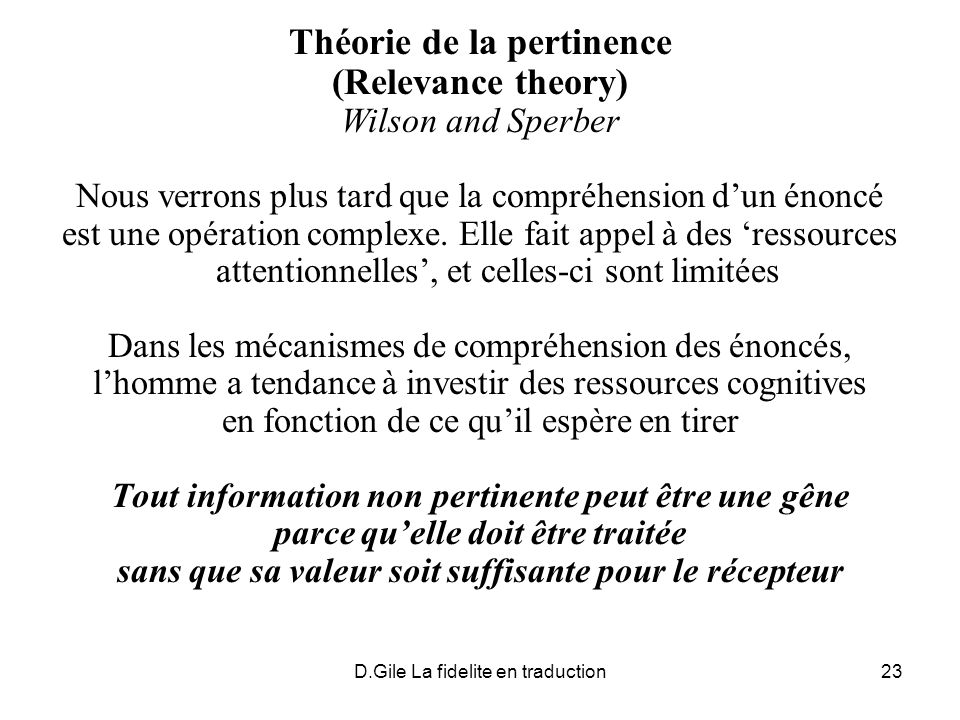 Théorie de la pertinence (Relevance theory)