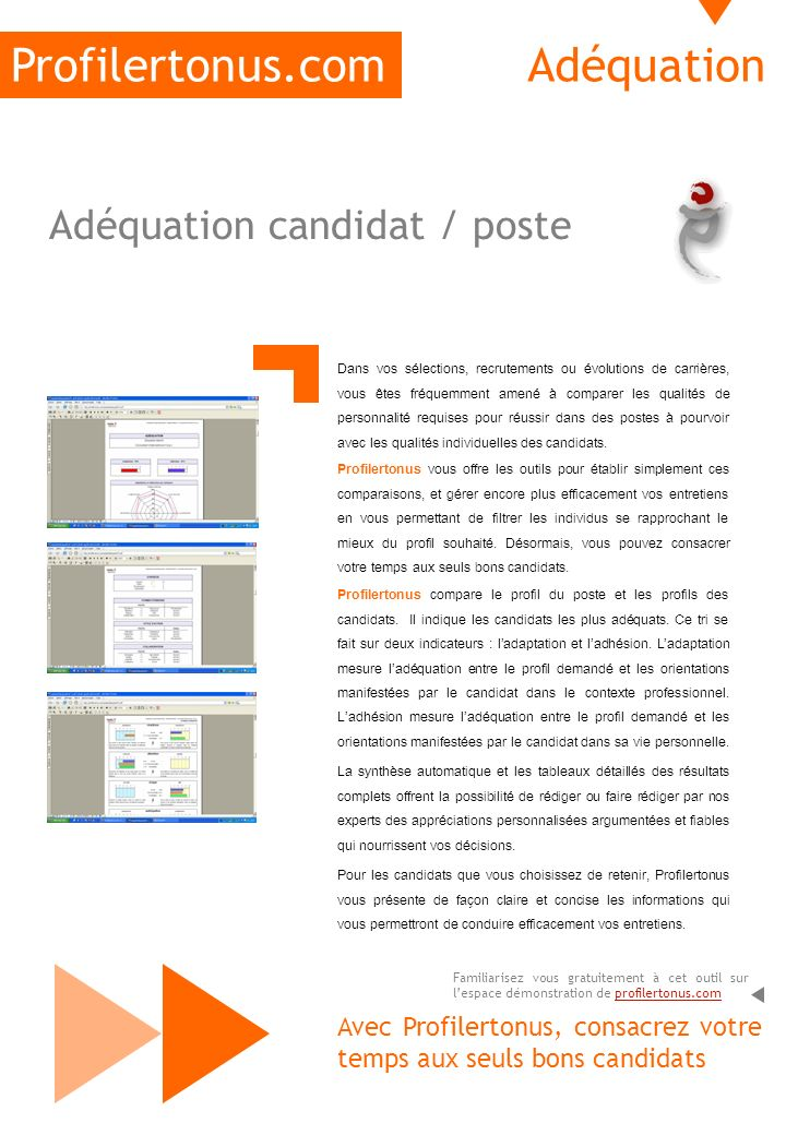 Profilertonus.com Adéquation Adéquation candidat / poste