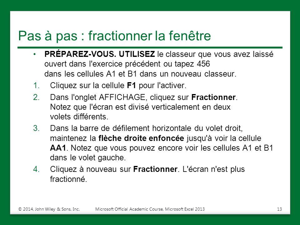 fractionner excel 2010