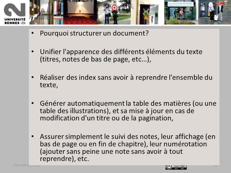 Pourquoi structurer un document