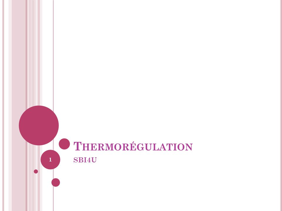 Thermorégulation SBI4U