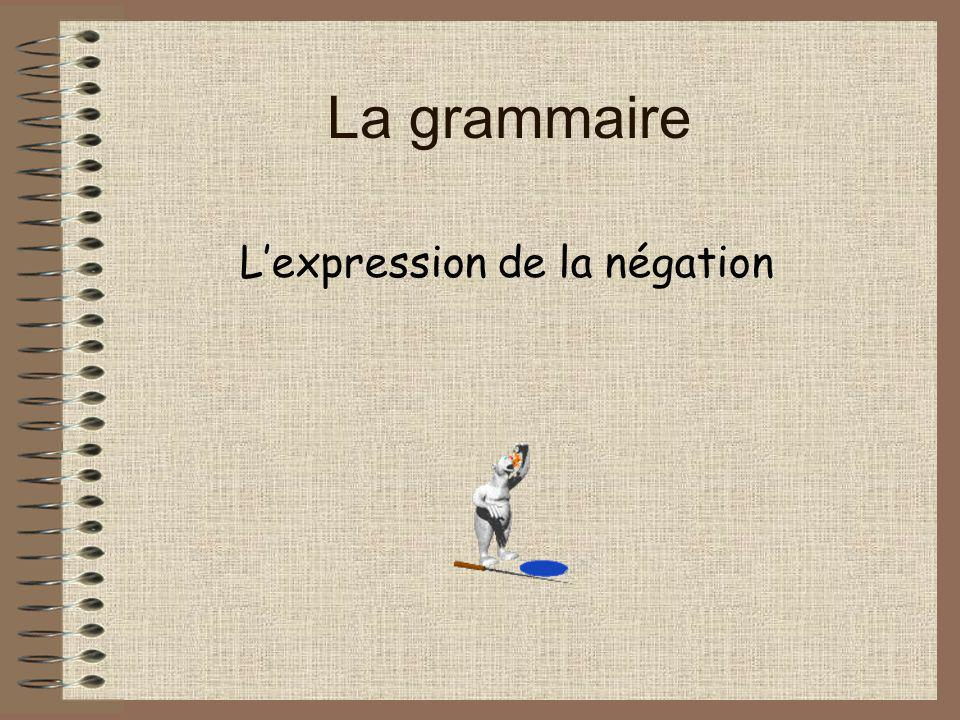 L'expression de la négation