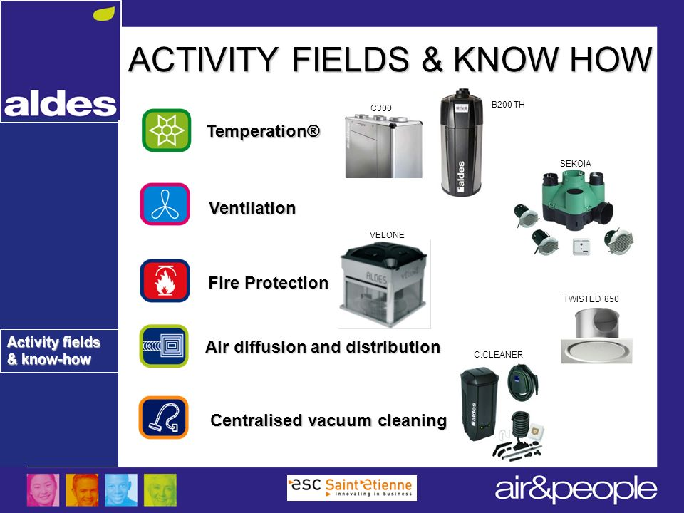 ACTIVITY FIELDS & KNOW HOW