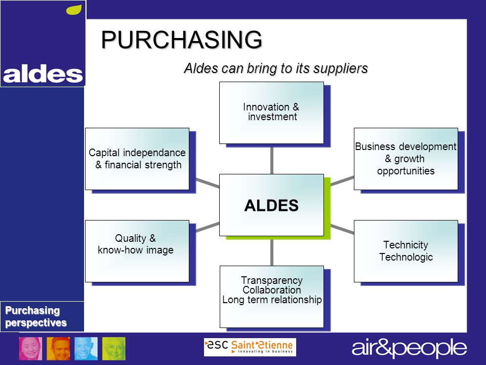 Aldes can bring to its suppliers