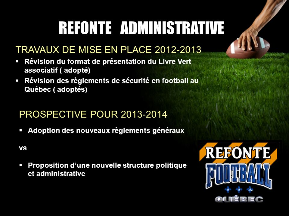 REFONTE ADMINISTRATIVE