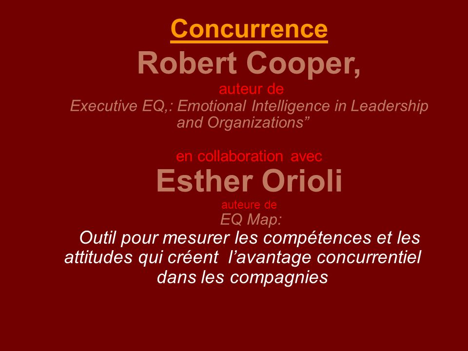 Executive EQ,: Emotional Intelligence in Leadership and Organizations