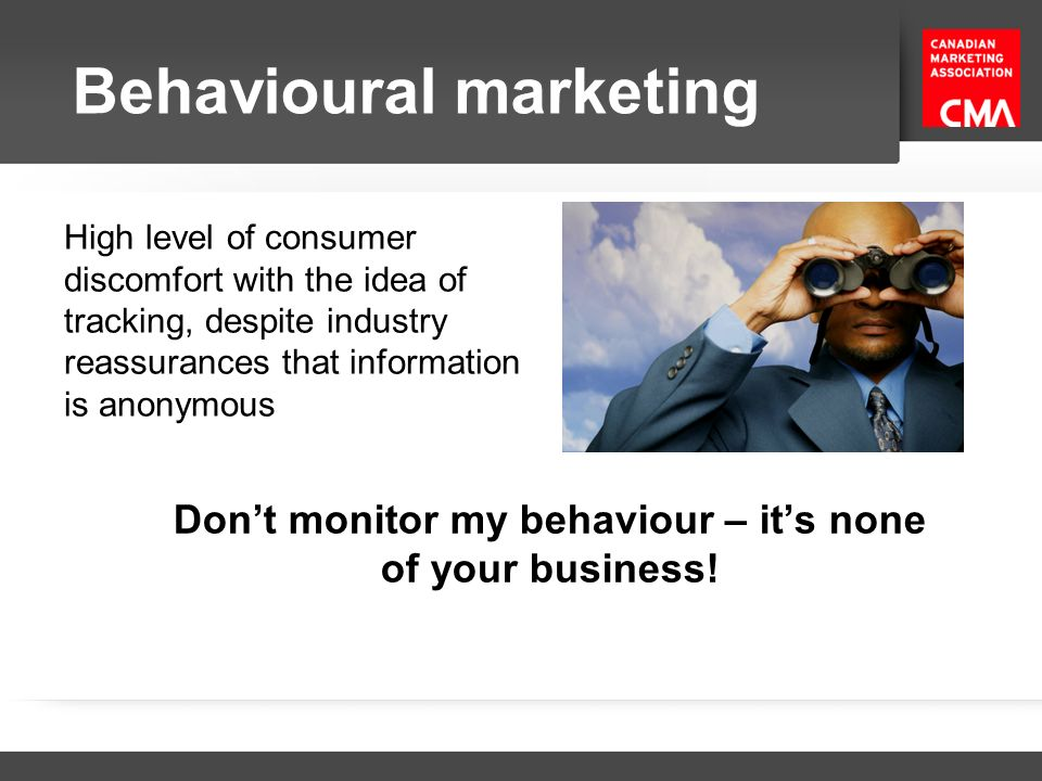Don't monitor my behaviour – it's none of your business!