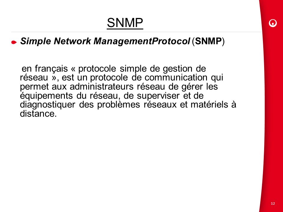 SNMP Simple Network ManagementProtocol (SNMP)