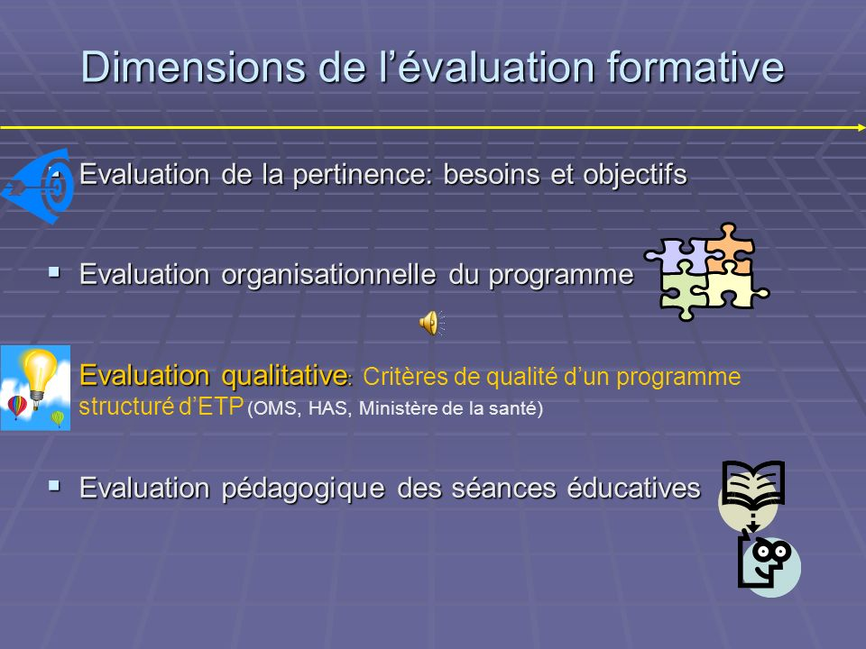 Dimensions de l'évaluation formative