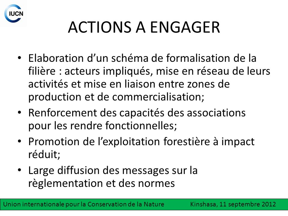 ACTIONS A ENGAGER