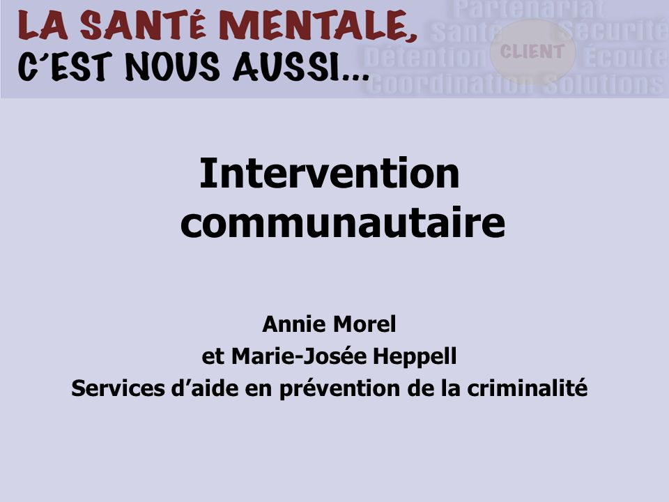 Intervention communautaire