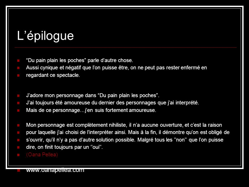 L'épilogue www.oanapellea.com
