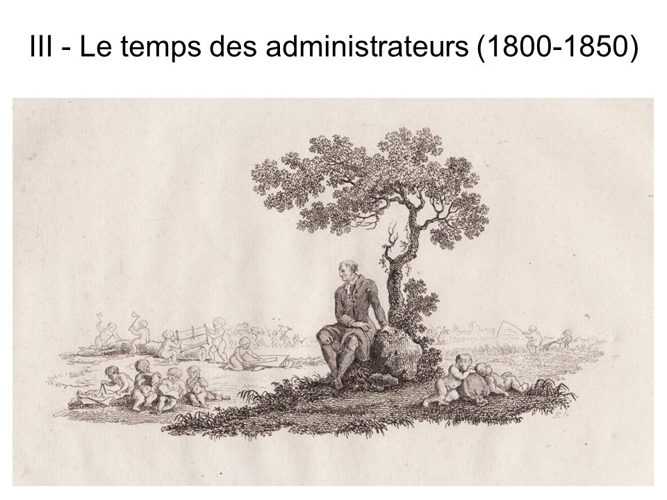 III - Le temps des administrateurs ( )