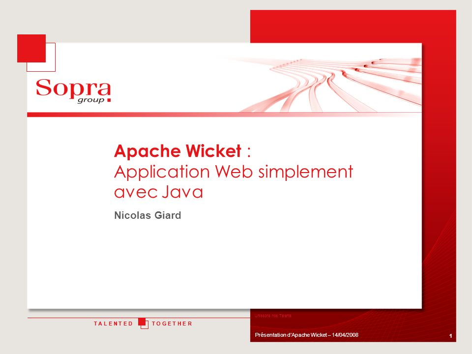 Apache Wicket : Application Web simplement avec Java