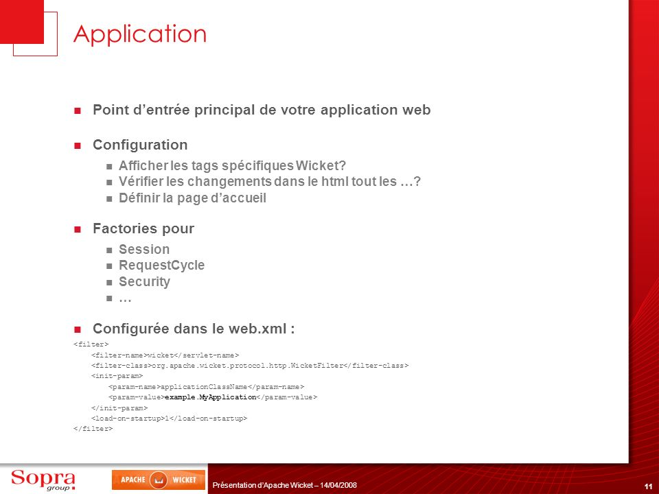 Application Point d'entrée principal de votre application web