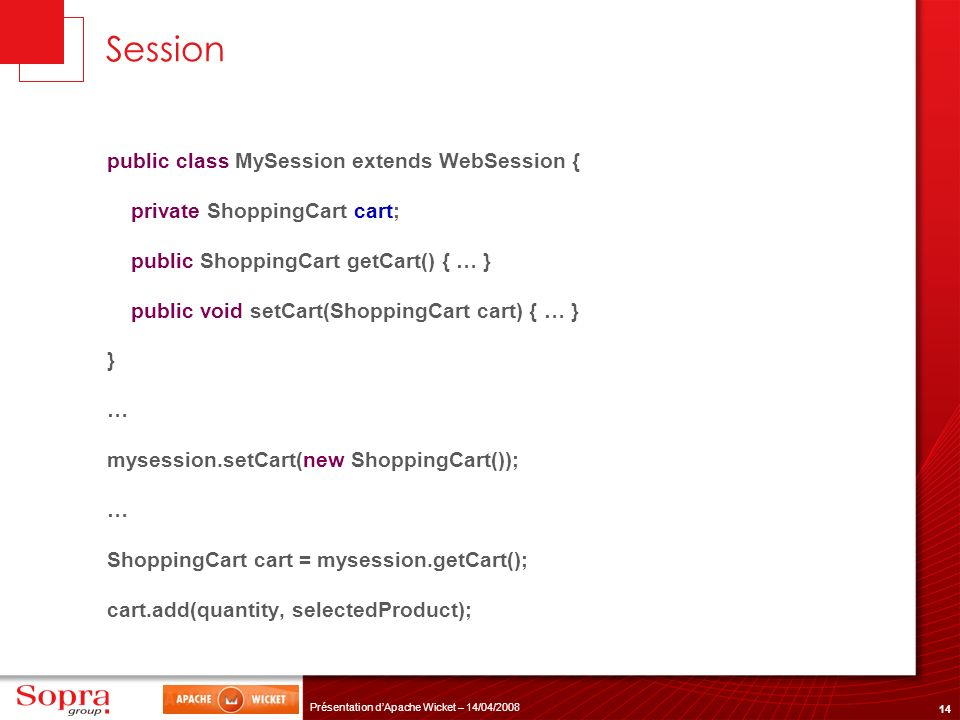 Session public class MySession extends WebSession {