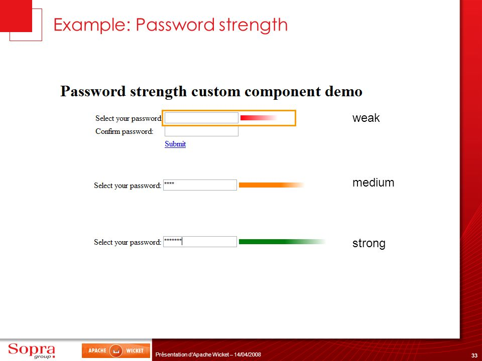 Example: Password strength