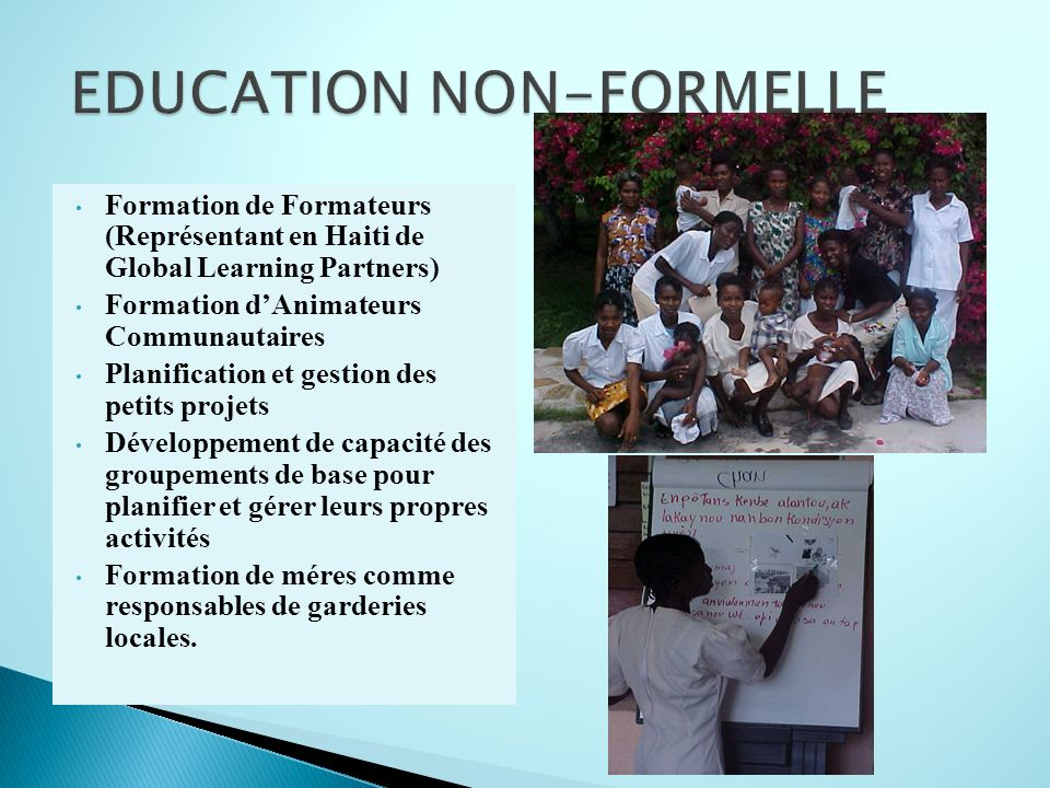 EDUCATION NON-FORMELLE
