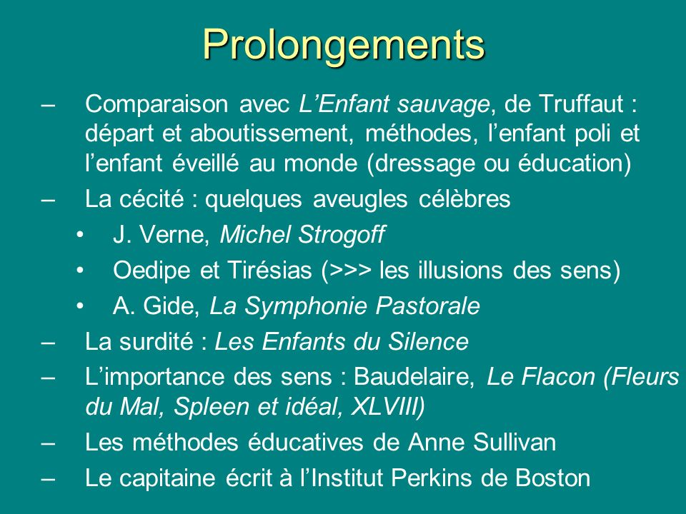 Prolongements