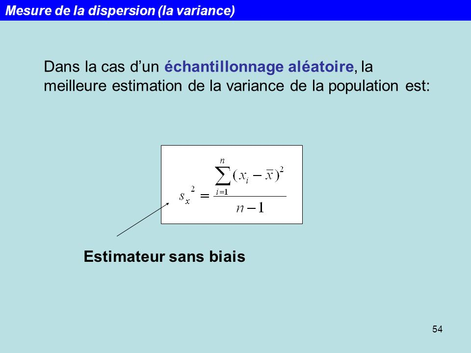Week 1 Lecture 1 Mesure de la dispersion (la variance)