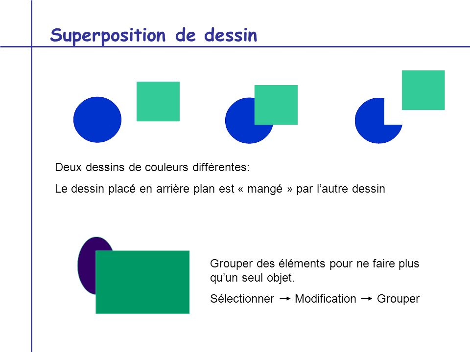 Superposition de dessin