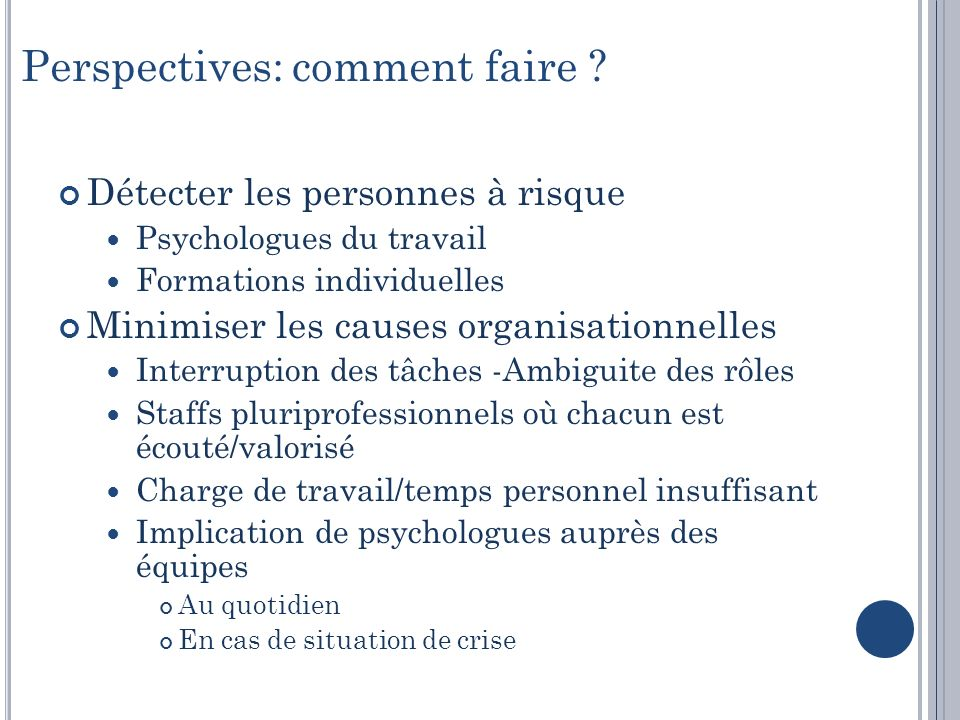 Perspectives: comment faire