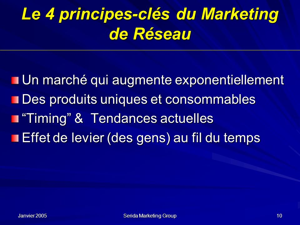 Le 4 principes-clés du Marketing de Réseau
