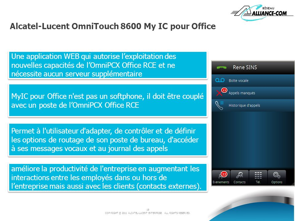 Alcatel-Lucent OmniTouch 8600 My IC pour Office