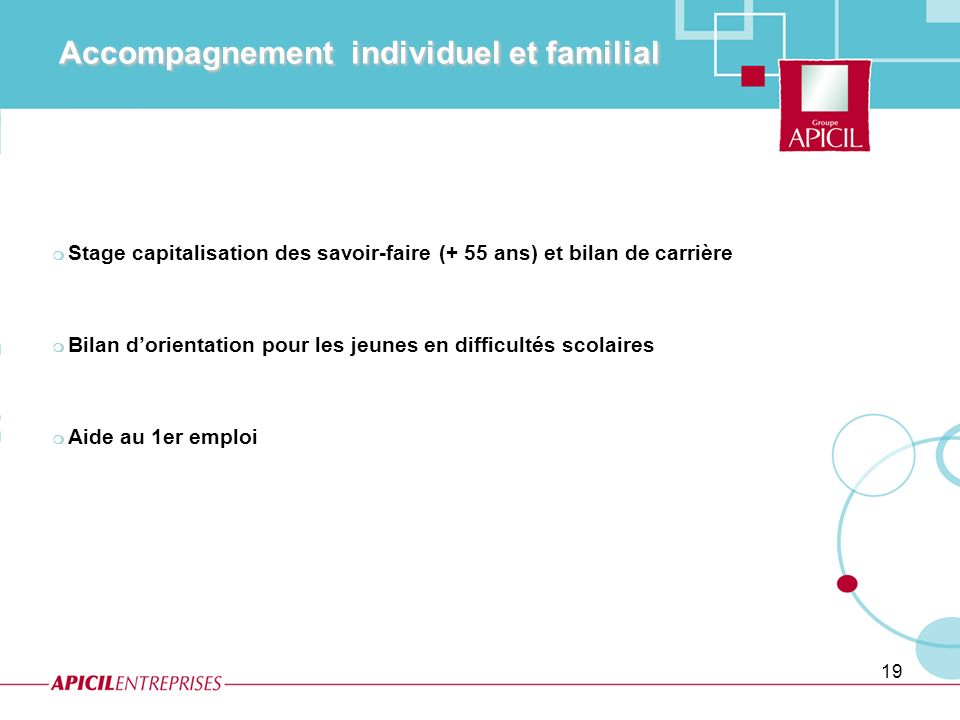 Accompagnement individuel et familial