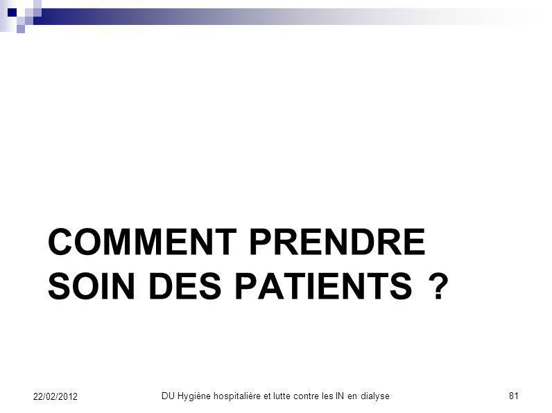 Comment prendre soin des patients