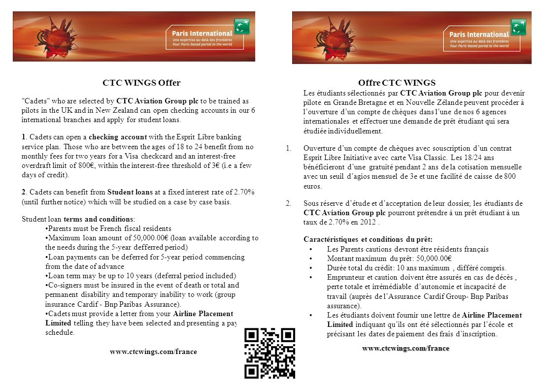 CTC WINGS Offer Offre CTC WINGS