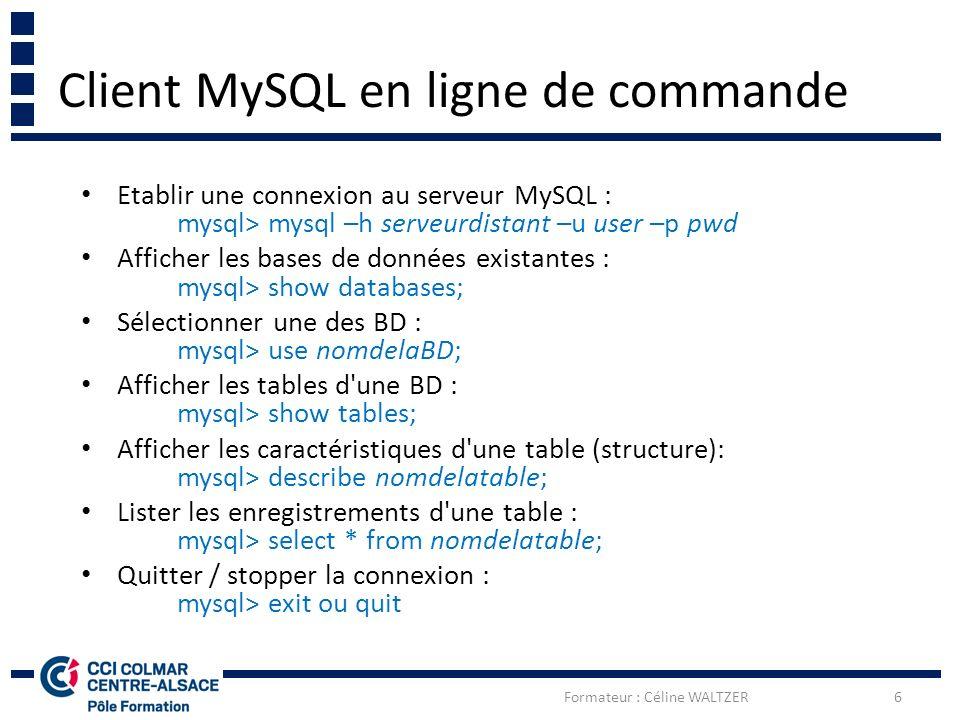 Client De Ligne De Commande Mysql Pour Windows 7 Telechargement Gratuit