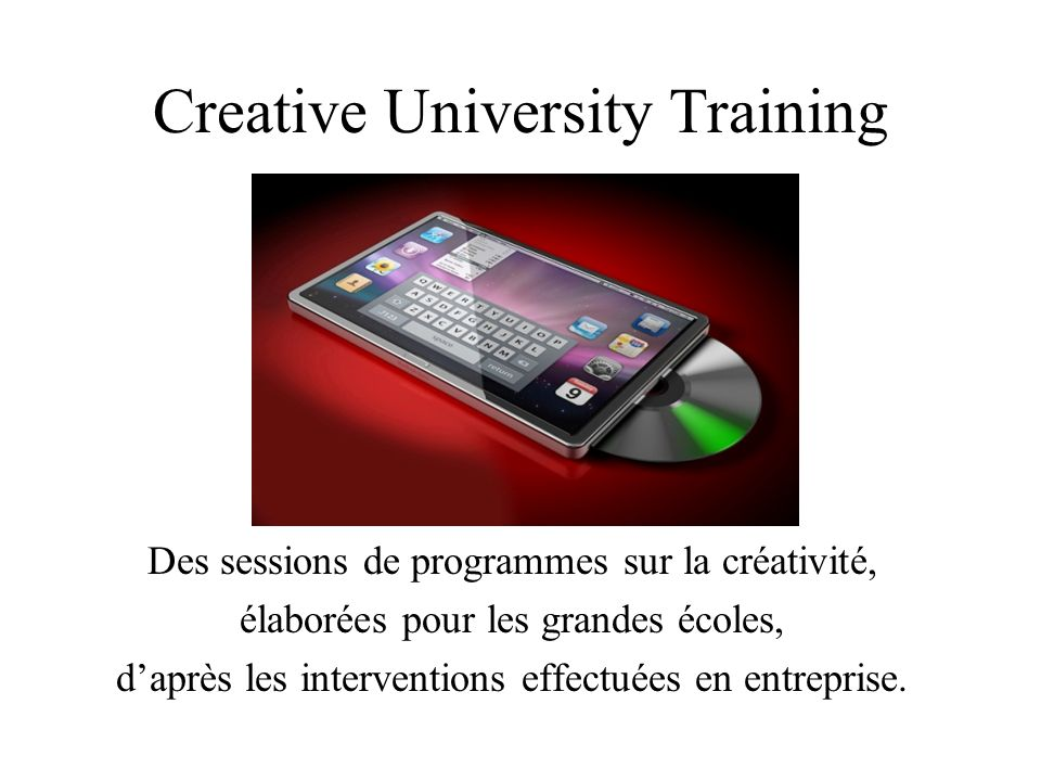 Creative University Training