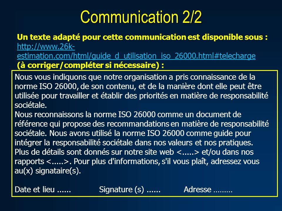 Communication 2/2