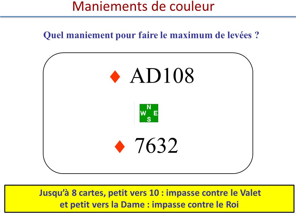  AD108  7632 Maniements de couleur