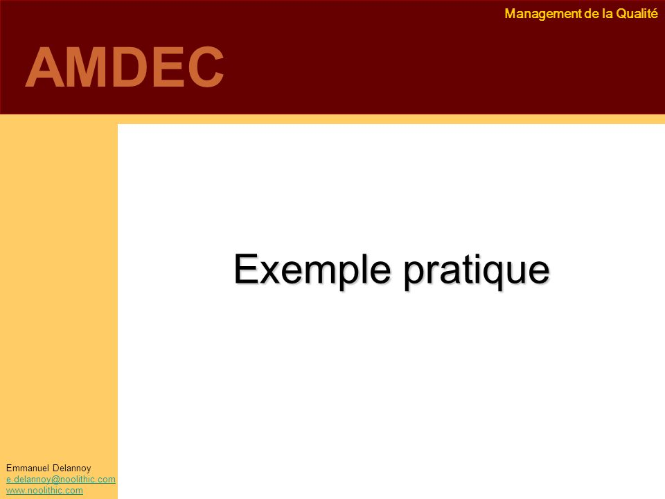 AMDEC Exemple pratique