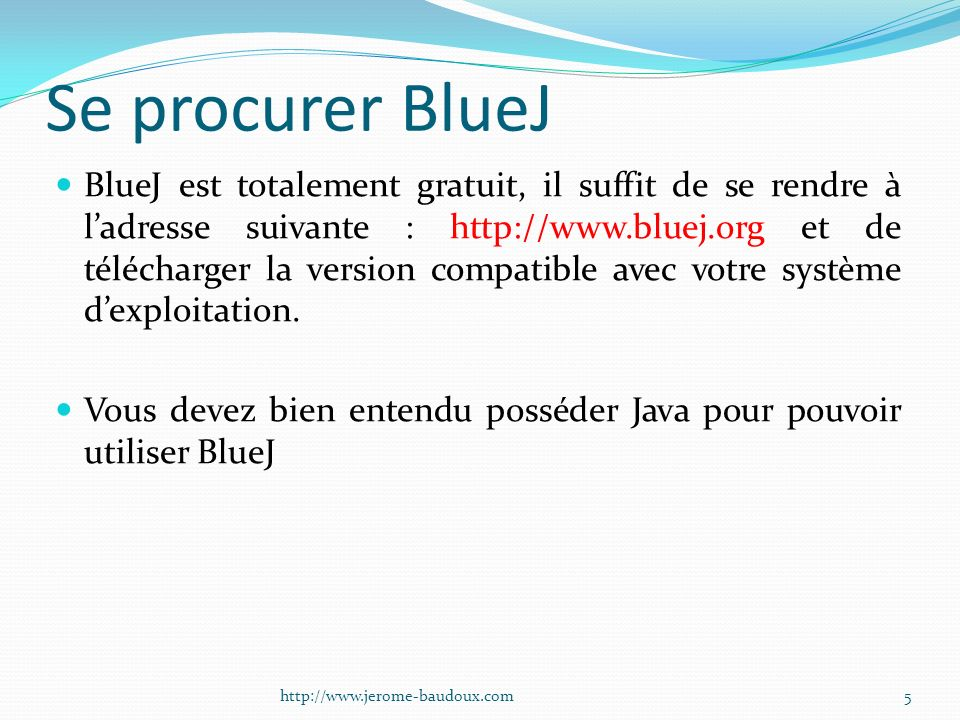Se procurer BlueJ