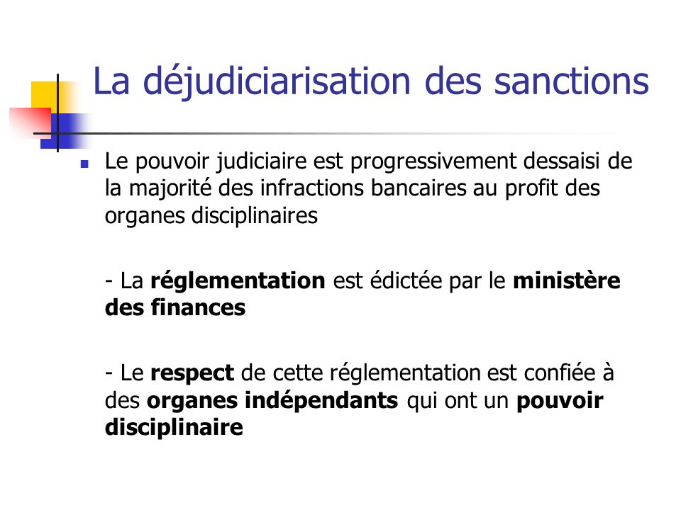 La déjudiciarisation des sanctions
