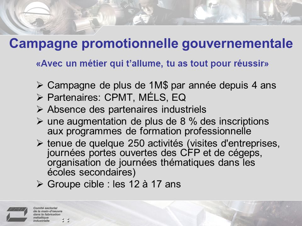 Campagne promotionnelle gouvernementale