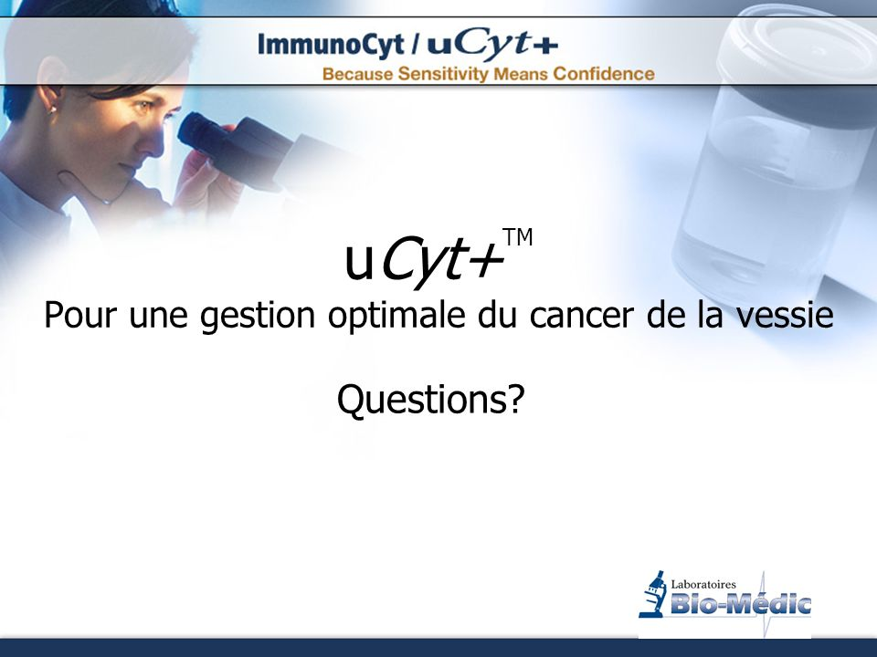 uCyt+TM Pour une gestion optimale du cancer de la vessie