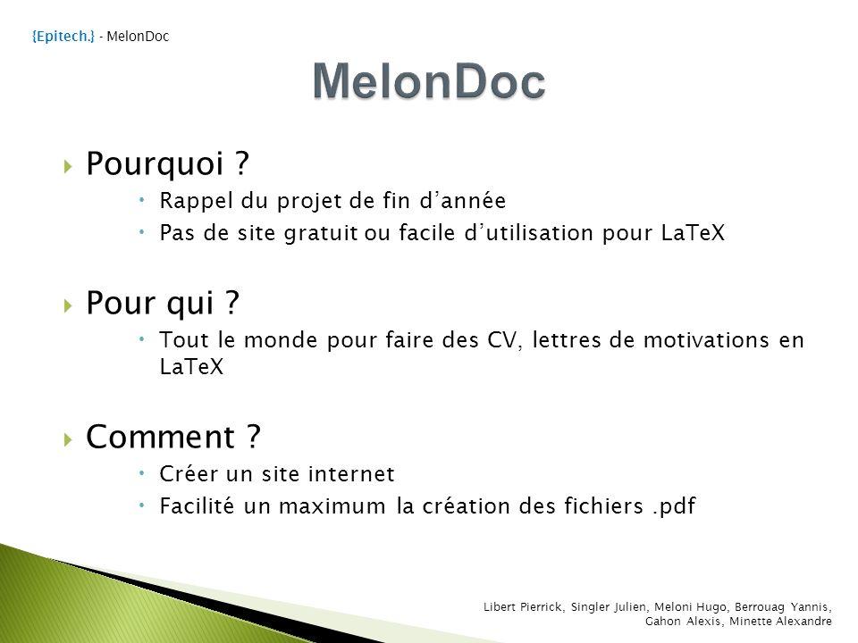 melondoc projet libre de fin d u2019ann u00e9e