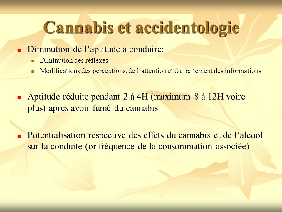 Cannabis et accidentologie