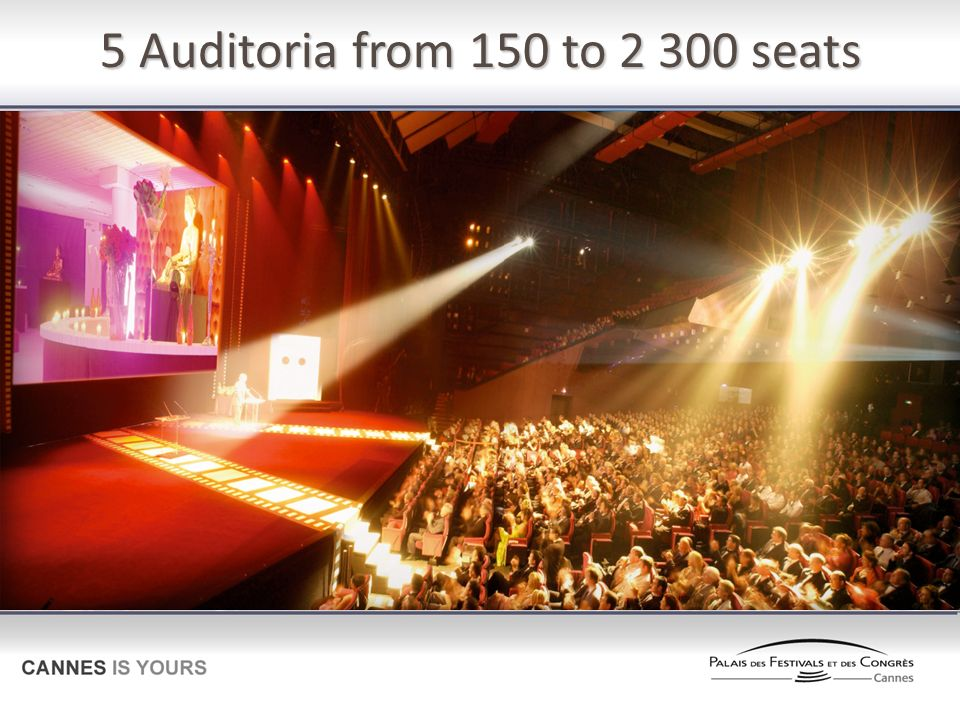 5 Auditoria from 150 to seats