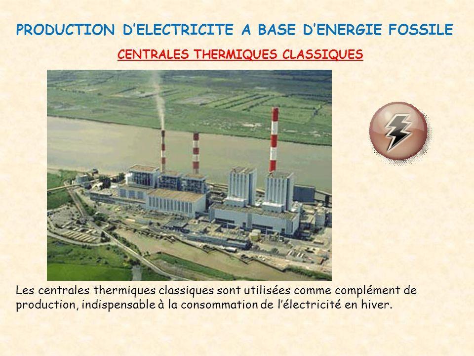 PRODUCTION D'ELECTRICITE A BASE D'ENERGIE FOSSILE