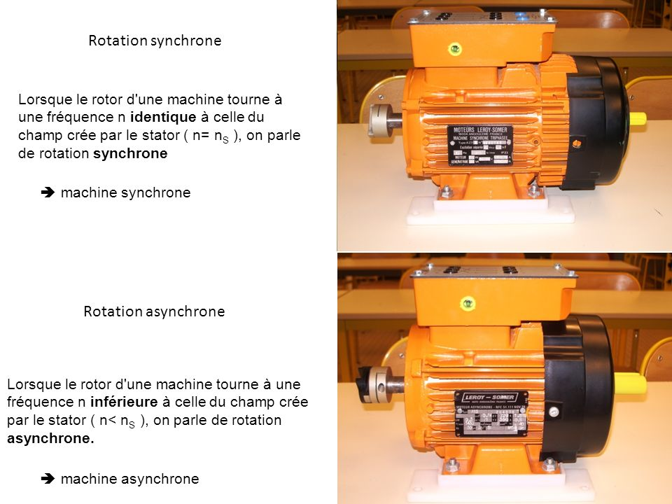 machine synchrone et asynchrone