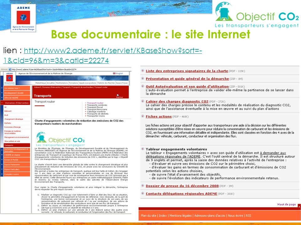 Base documentaire : le site Internet